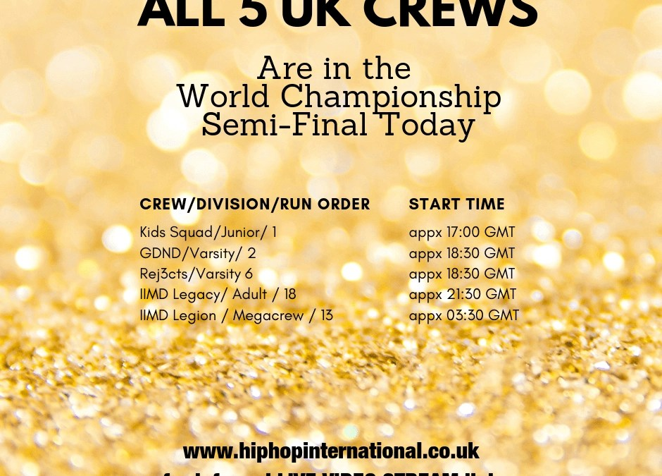 The UK goes 5 for 5 advancing to the Semis of the World Hip Hop Dance Championship