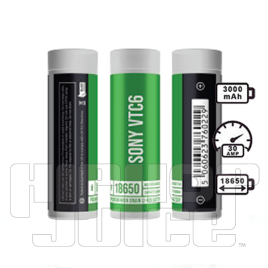 Sony VTC6 18650 3000mAh 30A Batteries (2 Pack)