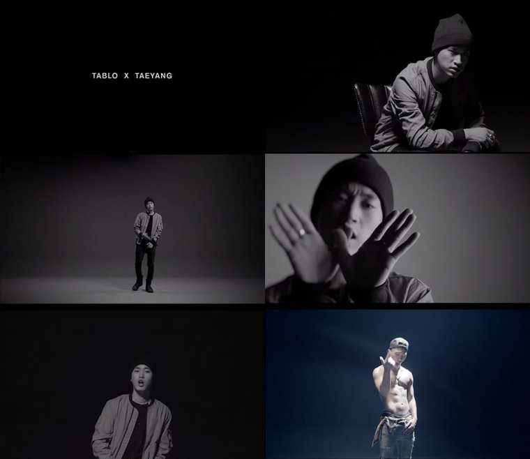 Tablo X Taeyang - 눈.코.입 (Eyes, Nose, Lips) MV screenshots