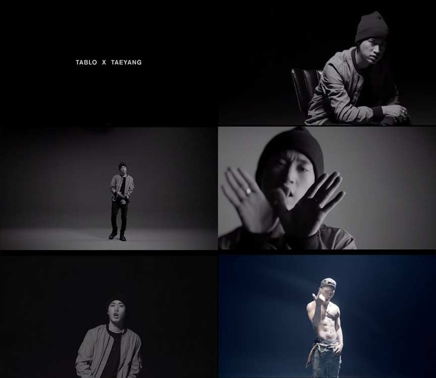 Tablo X Taeyang - 눈.코.입 (Eyes, Nose, Lips) MV screenshots