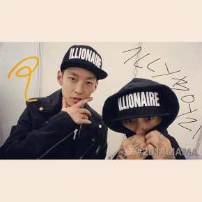 The Quiett and Dok2 at the Mnet Asian Music Awards 2014