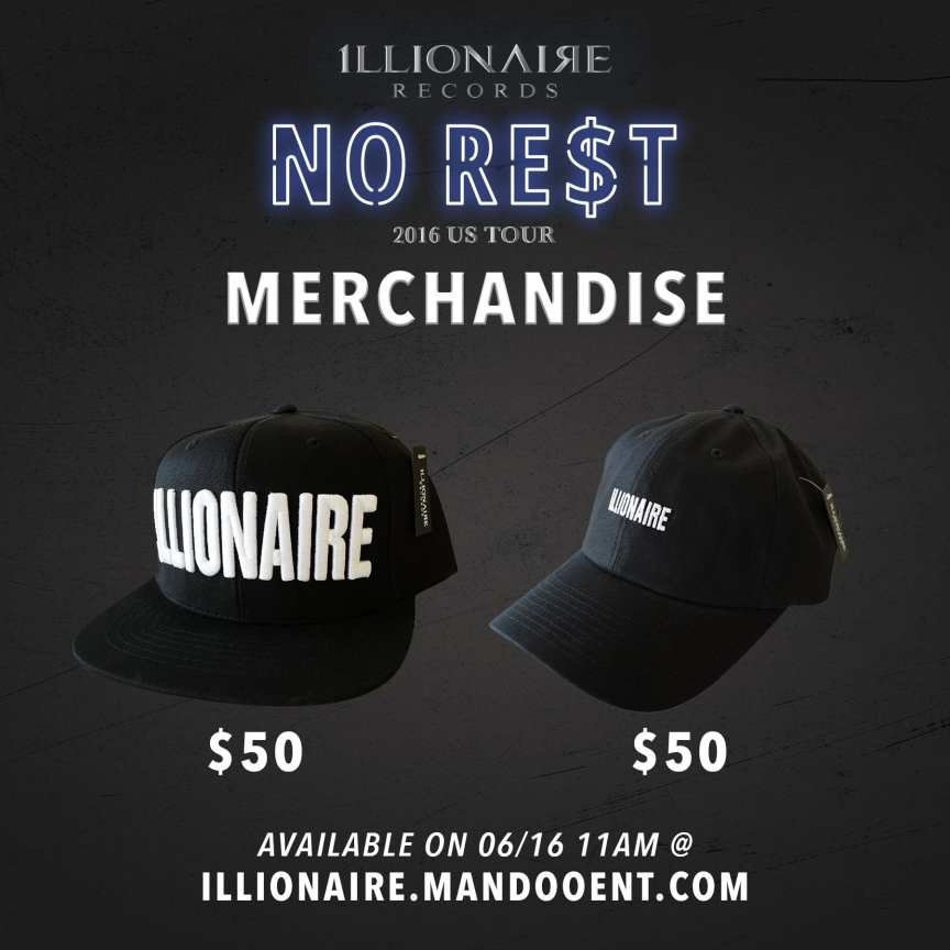 Illionaire Records merchandise: Snapback and Ball Cap!