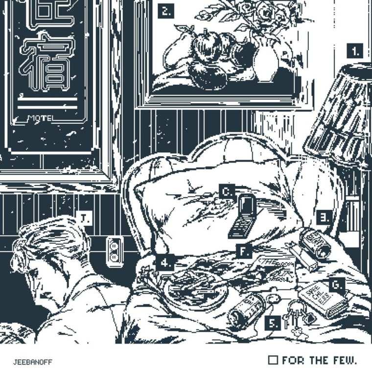jeebanoff - for the few. (album cover)