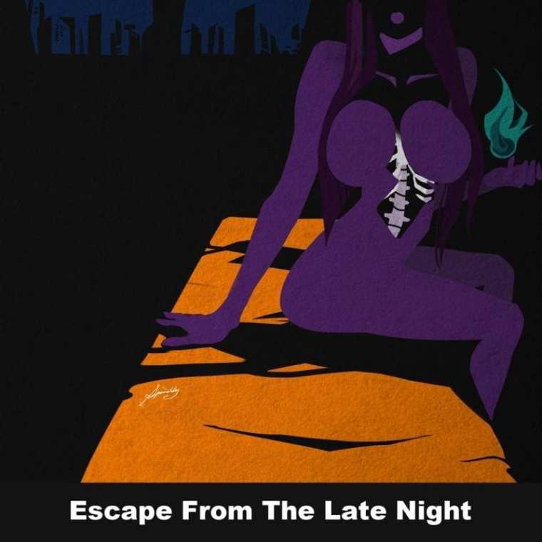 Jhnovr - Escape From the Late Night (album cover)
