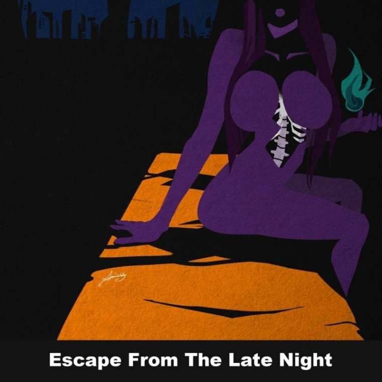 Jhnovr - Escape From the Late Night (album cover)