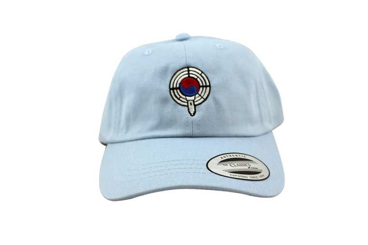 baby blue dad hat front