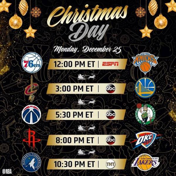 Tis The Season: The NBA Has Released The 2017 Christmas ...