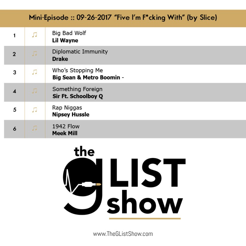 EP: 04 – The G-List Show – Mini-Episode :: 01-24-2018 – Five I'm Fucking With (by Jimbo Slice) (@TheGListShow)