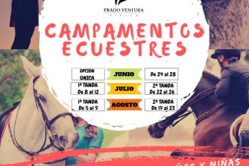 Campamentos ecuestres durante los meses de verano de 2019