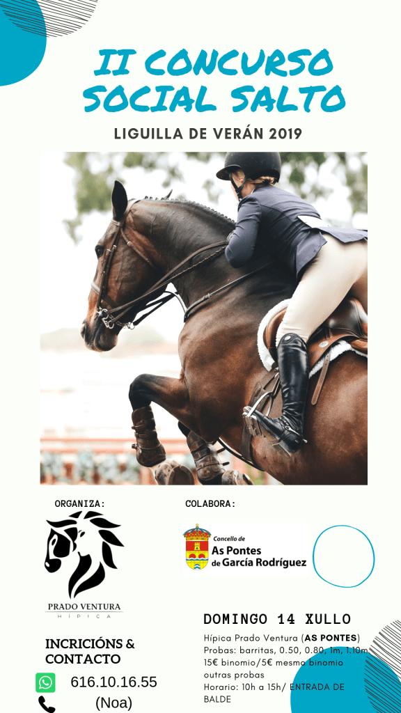 Segundo Concurso Social de Salto a caballo de Hípica Prado Ventura en Julio de 2019