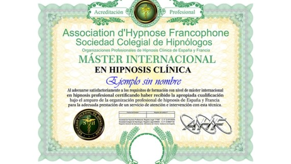 máster en hipnosis clínica internacional
