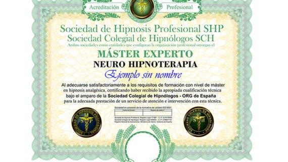 título máster en neuro hipnoterapia