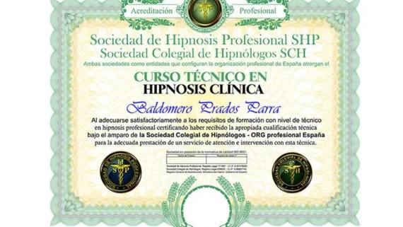 título curso de hipnosis clínica