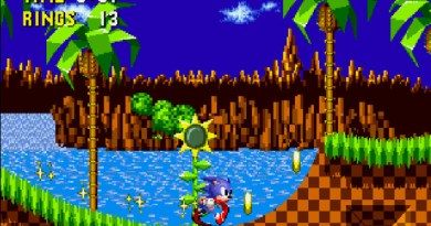 Sega Genesis Sonic the Hedgehog 1991 blog hipogryf.pl