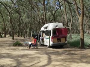 Gratis campings tussen Sydney en Adelaide Australië