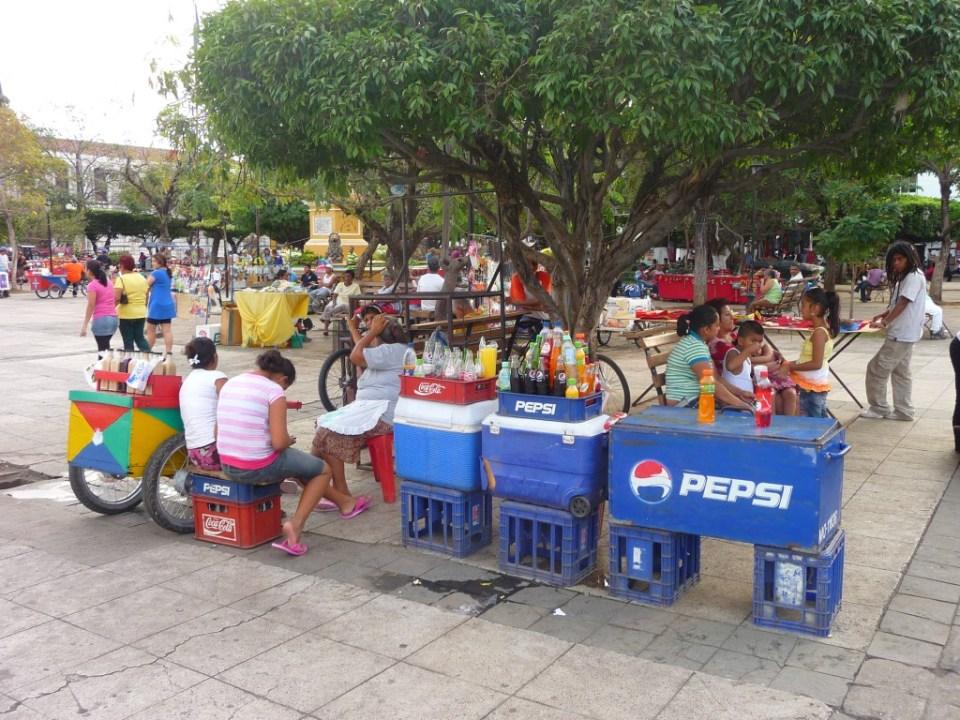 Foodstalls-in-Leon-Nicaragua
