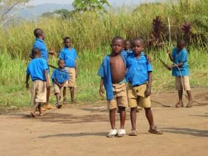 Schoolkids in Afrika