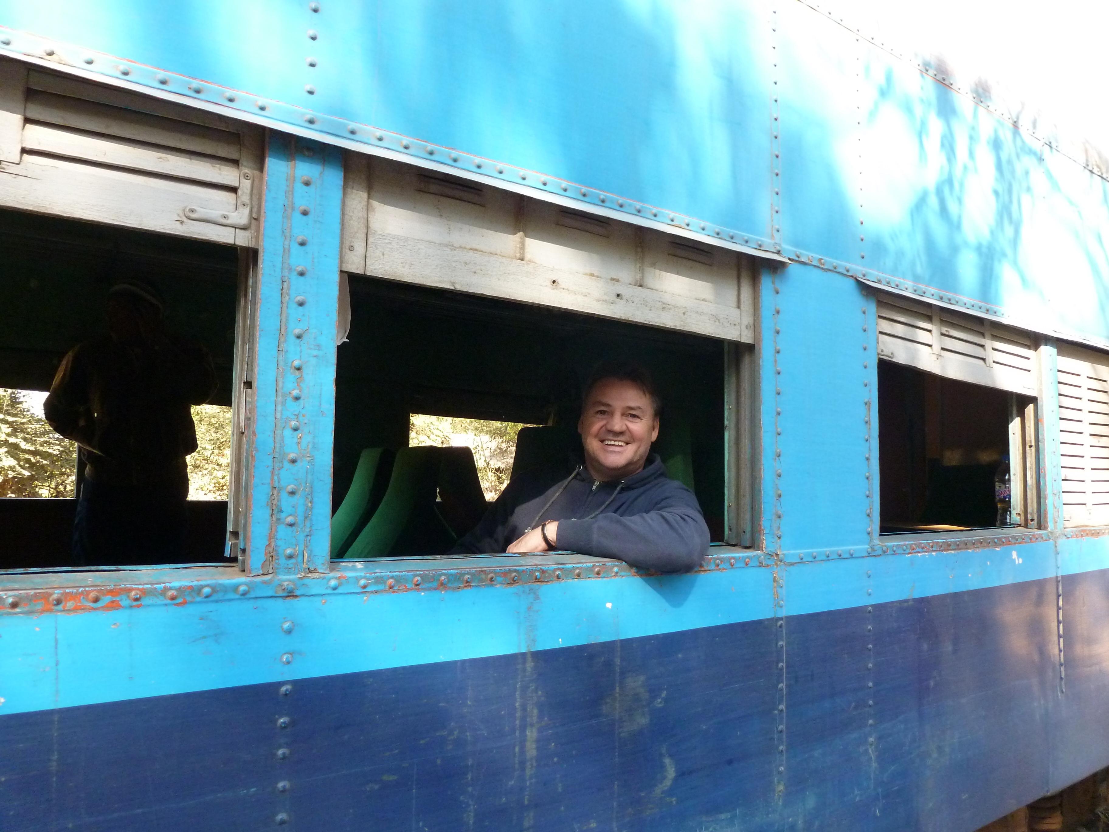 Trein in Myanmar