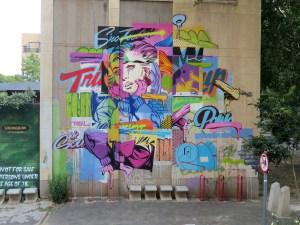 Graffiti in Johannesburg Zuid-Afrika