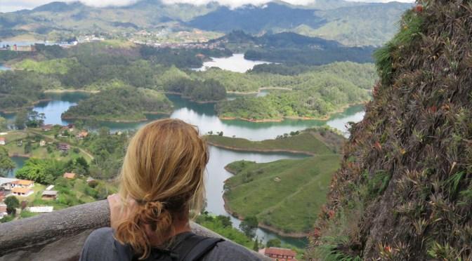 Uitzicht van La Piedra de Guatape Colombia