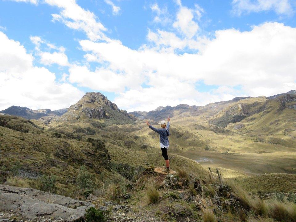 Wandelen in El Cajas Cuenca Ecuador