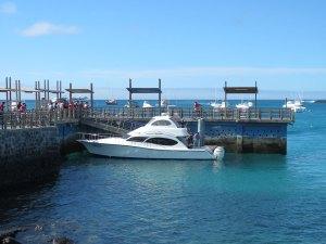 Ferry veerboot op de Galapagos Eilanden