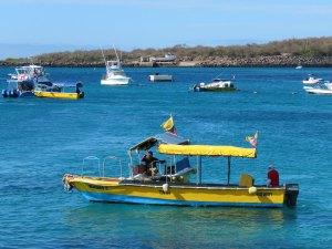 Taxi boot op de Galapagos eilanden