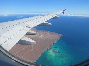 Vlucht met Latam naar Baltra Galapagos