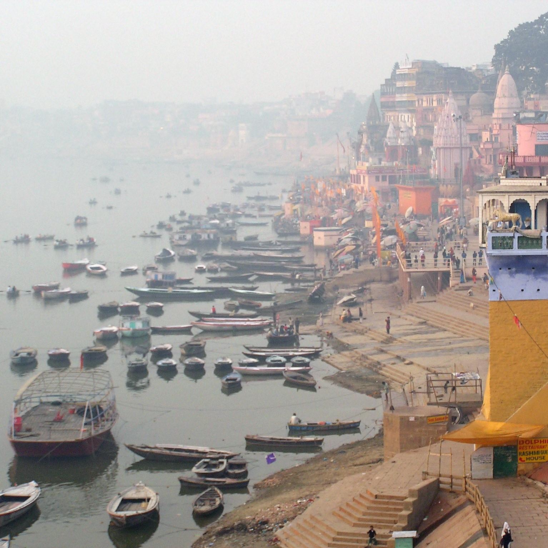 Varanasi Noord-India foto's