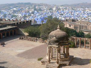 De blauwe stad Jodhpur India