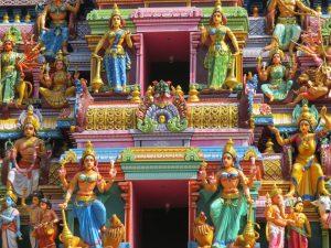 kleurrijke Hindoe tempel