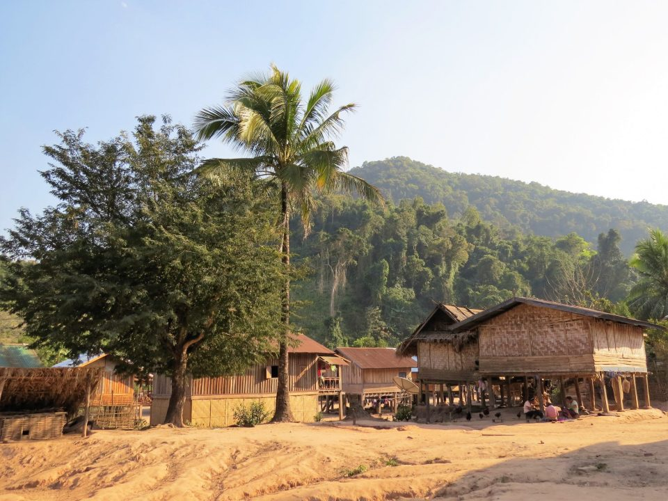 Khmu dorp in Nam Ha NP Laos