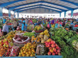 De markt in Banos Ecuador