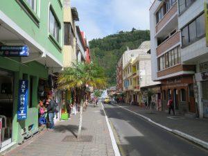 Straatbeeld Banos Ecuador
