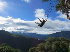 Swing at the End of the World Banos Ecuador