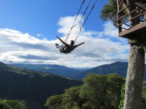 Swing at the end of the world baños Ecuador
