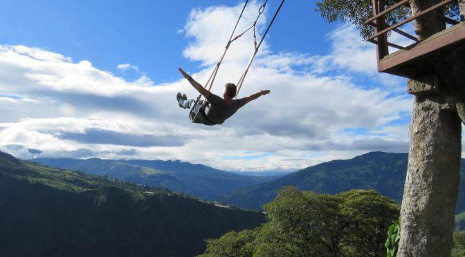 Swing at the end of the world baños Ecuador