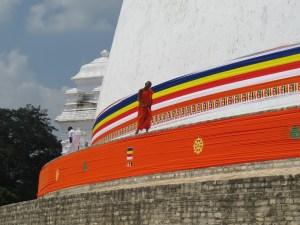 Monnik tempel Anuradhapura Sri Lanka