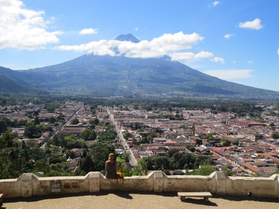 uitzicht over Antigua Guatemala