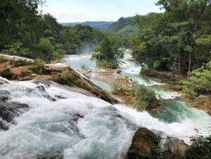 Agua Azul watervallen Mexico