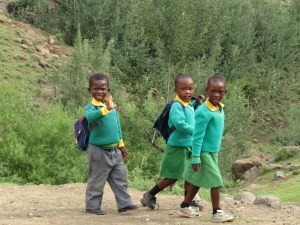 Local kids Lesotho