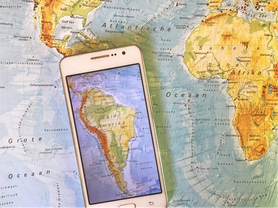 Simkaart in Zuid-Amerika