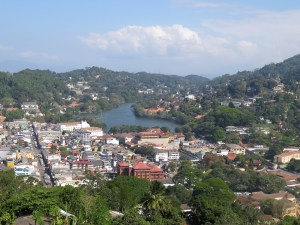 Kandy stad in Sri Lanka