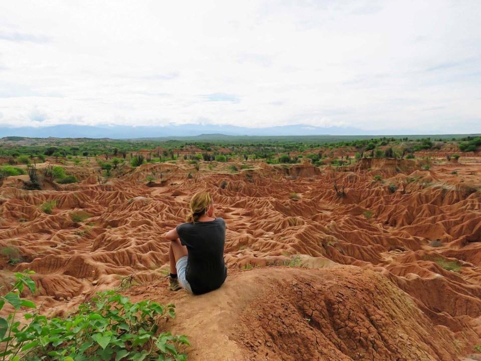 route door het zuiden van Colombia