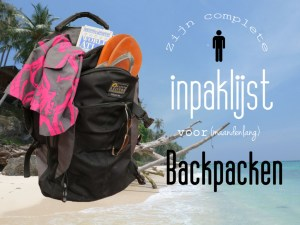 Inpaklijst backpacken mannen