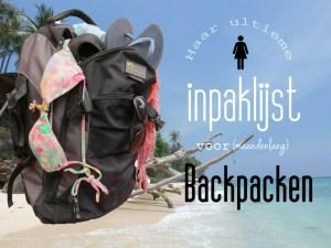 Inpaklijst backpacken vrouw