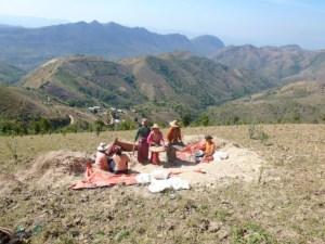 Het berggebied rond Kalaw in Myanmar