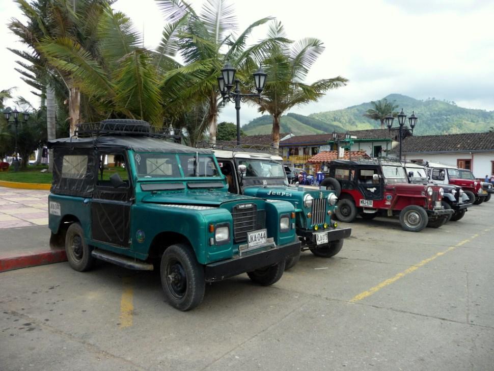 Jeep naar Valle de Cocora