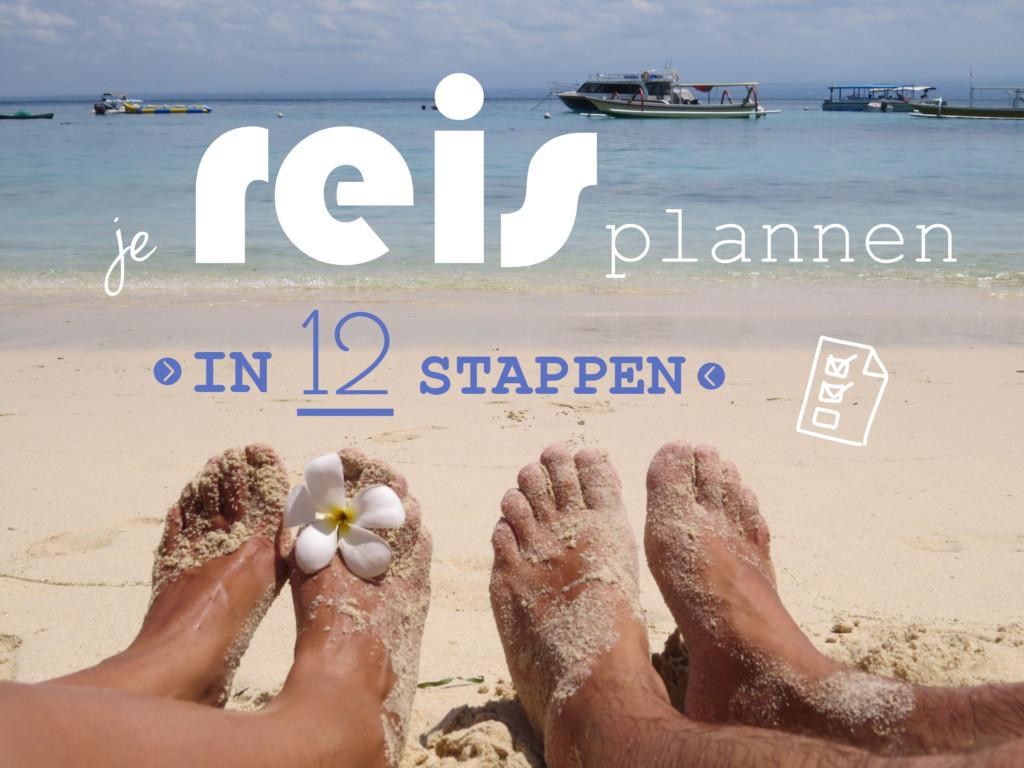 Reisplanner reis plannen in 12 stappen