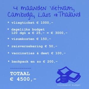 voorbeeldbudget-azië
